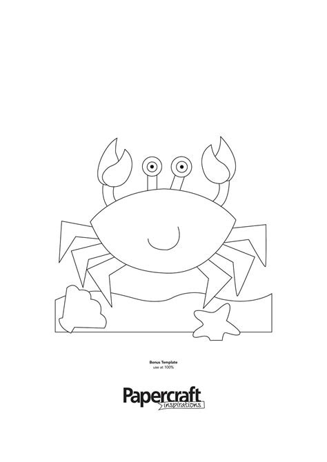 Crab template for summer paper craft projects brought to