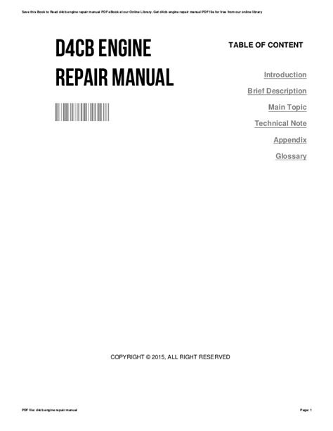 D4cb engine-repair-manual