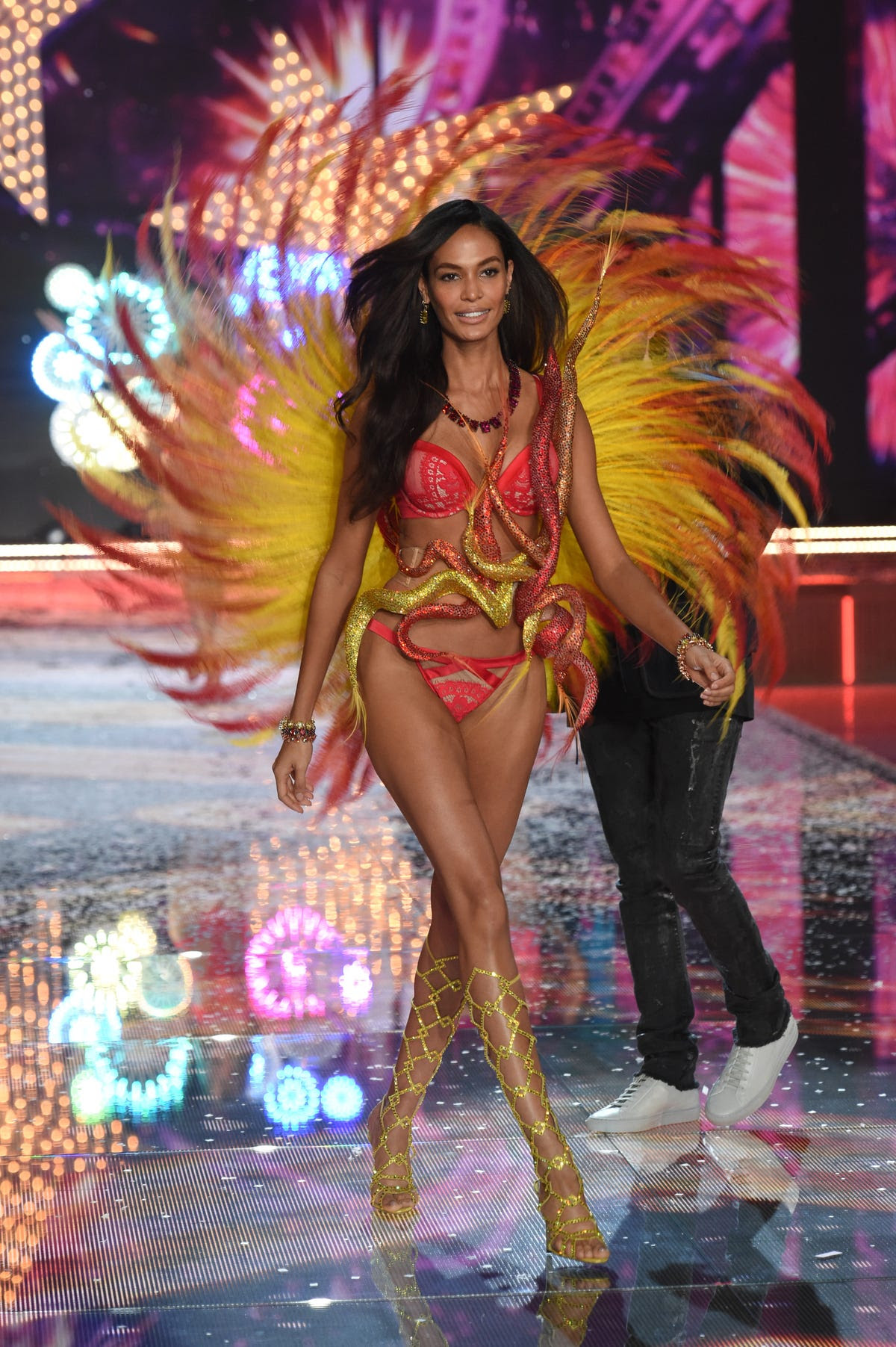 Joan Smalls was there, too. The Victoria's Secret models are tasked with the feat of luring in tremendous sales each year — and they succeed at doing so.