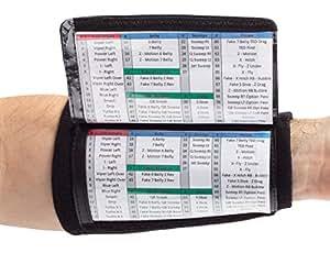 Amazon.com: WristCoaches QB Wrist Coach  Playbook Wristband Adult  Black  Heavy Duty