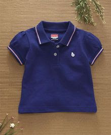 Babyhug Half Sleeves Cotton Polo T-Shirt - Royal Blue