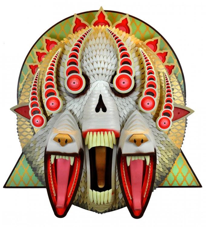 masque aj fossik 14 681x750 Les monstres en relief dAJ Fosik  art