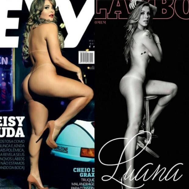 Ensaio nu de Luana Piovani vendeu mais que o de Geisy Arruda, diz jornal Reprodução / Divulgação/Divulgação