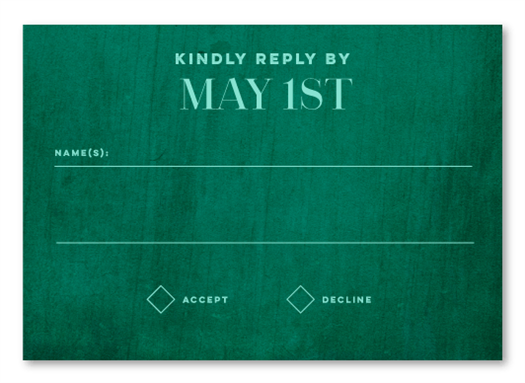 Country Green RSVP