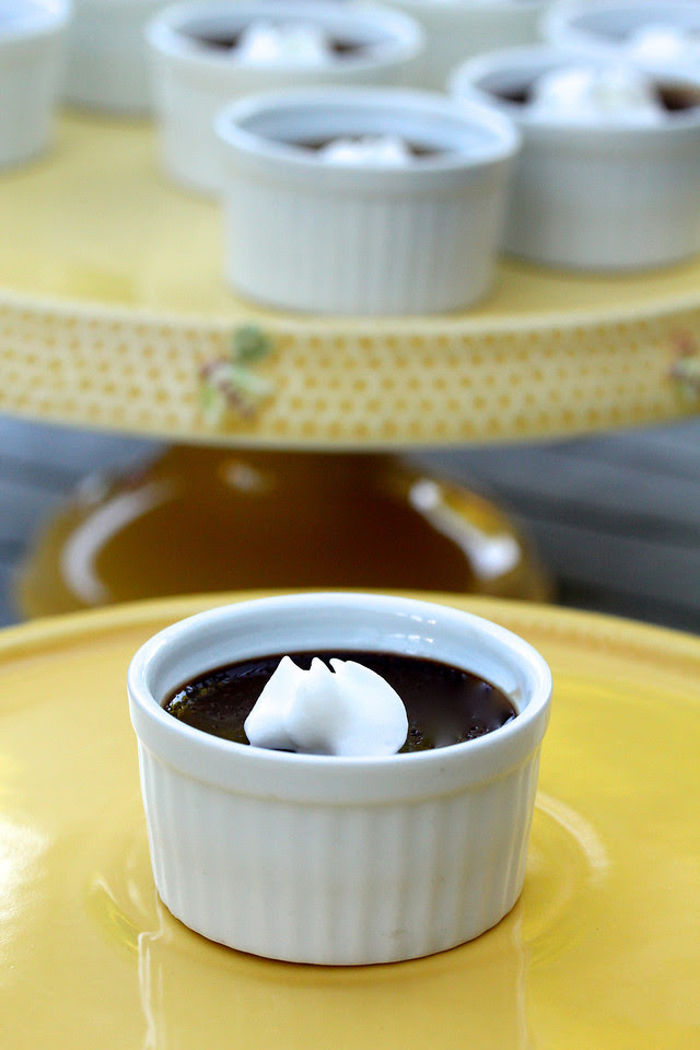Mini Chocolate-Espresso Pots de Creme