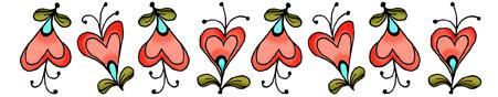 Border Heart Flowers
