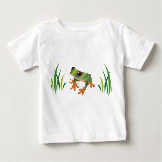 Tree Frog on Baby T-Shirt