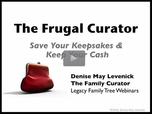 The Frugal Curator by Denise May Levenick