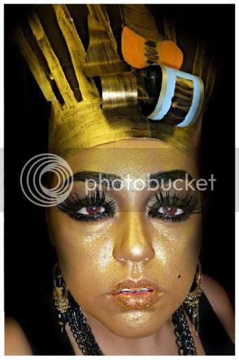 RetroSpeckBaby: King Tut Makeup