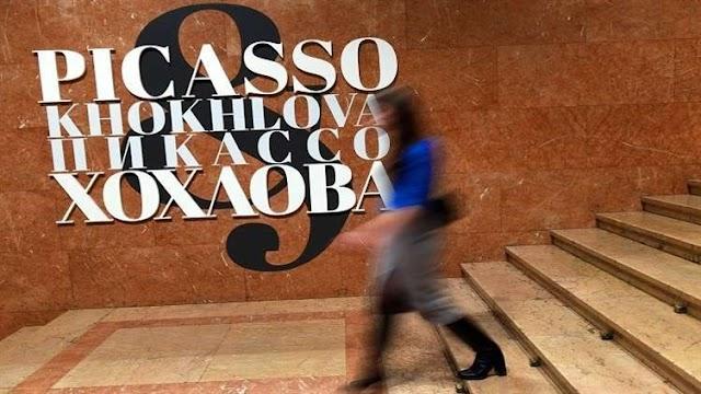 """وكالة """"تاس"""" توضح تطور الأسلوب الفني لبيكاسو من خلال تاريخ علاقته مع زوجته الروسية"""