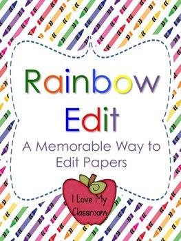 Rainbow Edit Writing Process