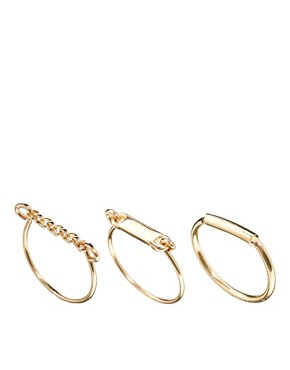 Image 1 of ASOS Fine Ring Pack
