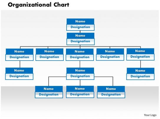 basic organization chart editable powerpoint templates
