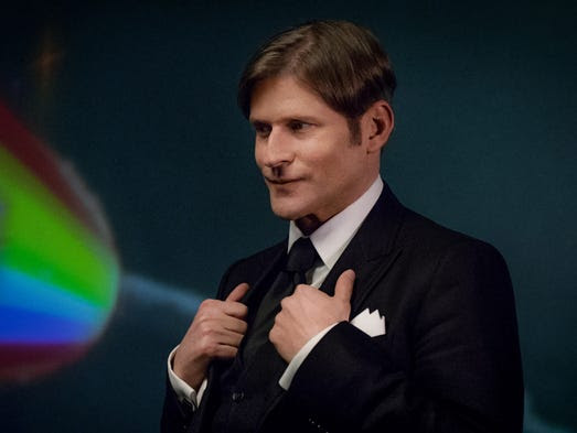 Crispin Glover plays the enigmatic New God known as