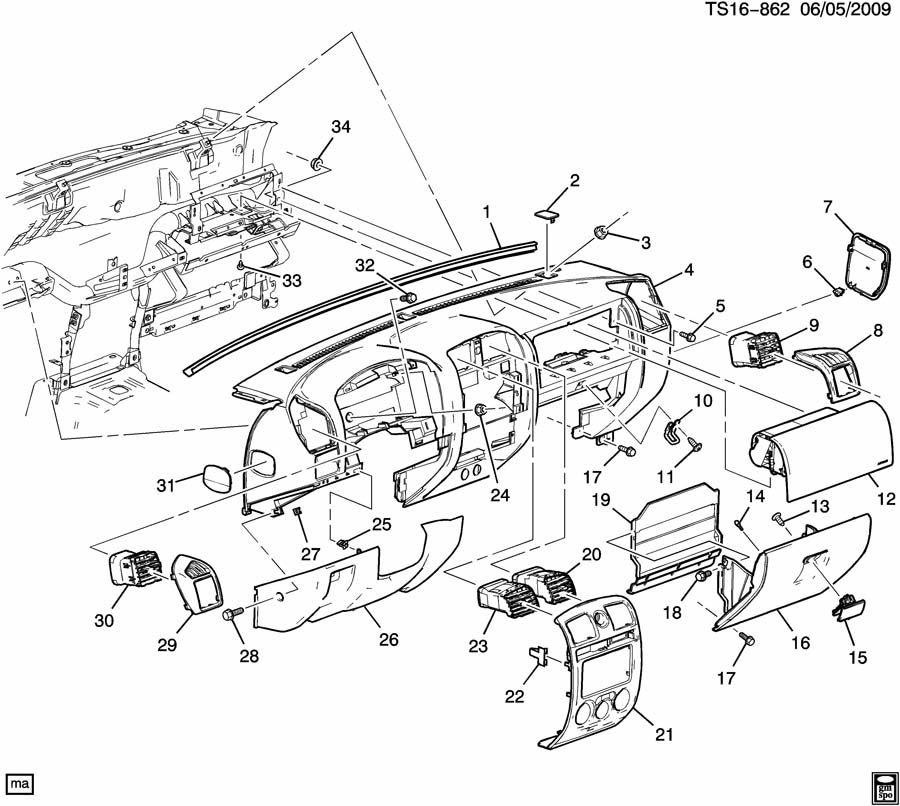 30 Chevy Colorado Parts Diagram