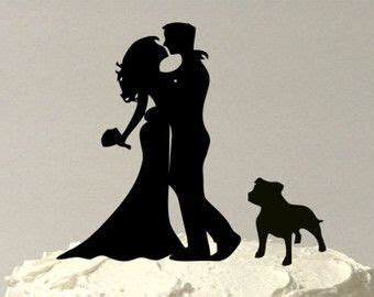 MADE In USA, Kissing Couple Silhouette Wedding Cake Topper