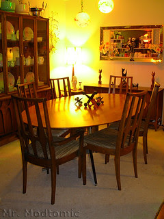 Florence Knoll table and Broyhill Brasilia Chairs - China Cabinet - Buffet 04