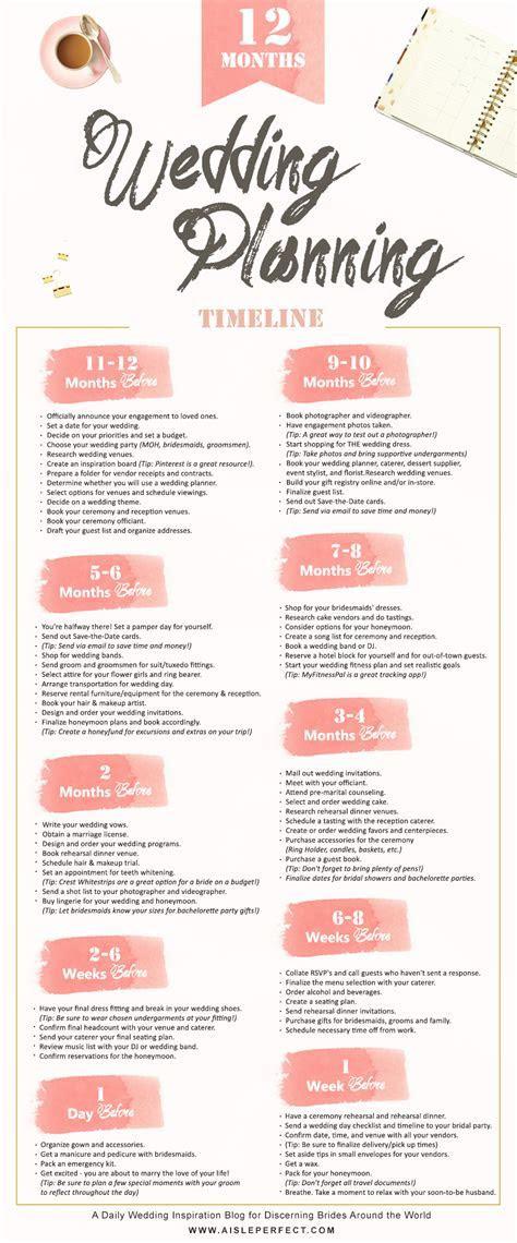 12 Month Wedding Planning Timeline   Wedding Planning Tips