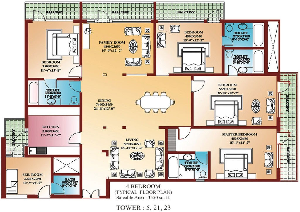 Awesome 4 Bedroom House Plans In India - New Home Plans Design