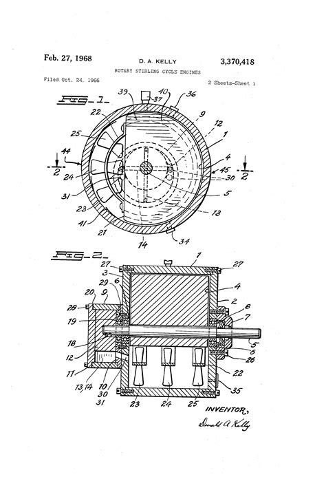 Patent US3370418 - Rotary stirling cycle engines - Google