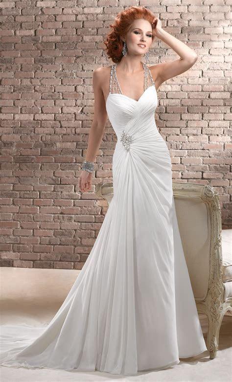 20 Chiffon Wedding Dresses Ideas   Wohh Wedding