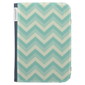 Aqua Blue Zigzag Kindle Cover