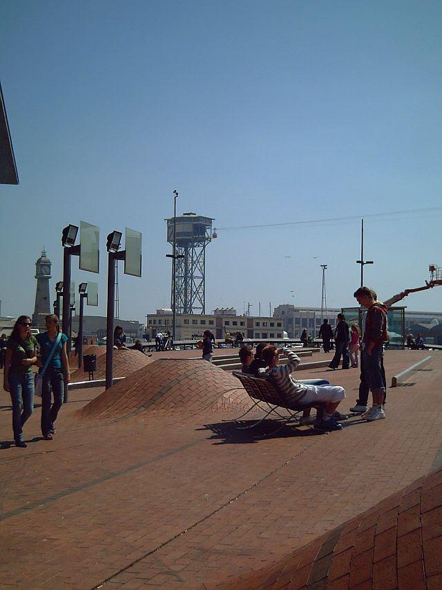 Futuristic Square at Maremagnum, Barcelona