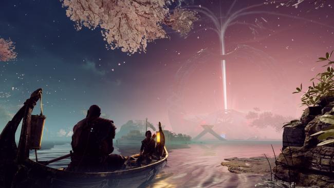 Wallpaper God Of War Boat Scenic In Game Kratos Atreus