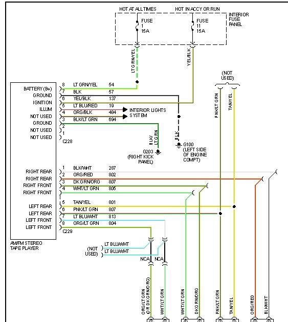 Ford Explorer Radio Wiring Diagram, 2000 Ford Taurus Radio Wiring Diagram