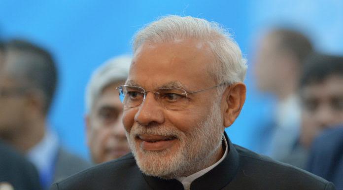 Thủ Tướng Narenda Modi của Ấn Ðộ. (Hình: Sergey Guneev/Host Photo Agency/Ria Novosti via Getty Images)