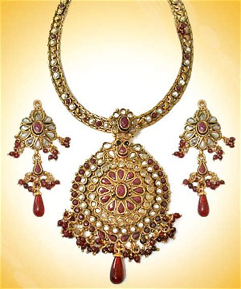 One Gram Gold Necklace Set » Jewelry » Sets » One Gram
