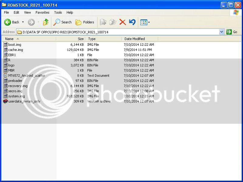 Download Stockrom Oppo R281 Flash Via SP Flash Tool