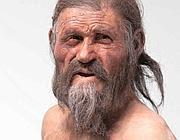 Ricostruzione dell'aspetto di Ötzi al momento della morte (da Museo archeologico dell'Alto Adige)