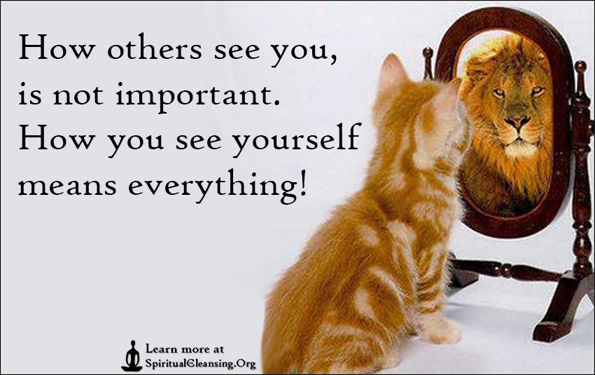 How Others See You Is Not Important How You See Yourself Means