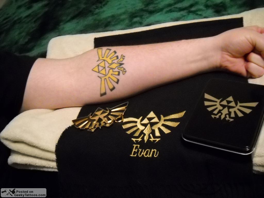 Triforce Tattoo At Geeky Tattoos