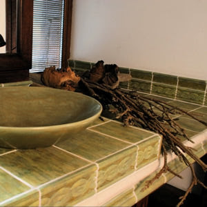 Installation Photo for Antigua Colonial Relief Tiles in Green