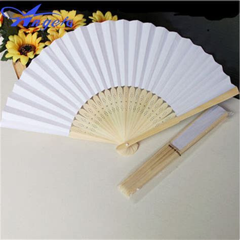 2015 New Arrival Leques Ladies Cheap Paper Fans For