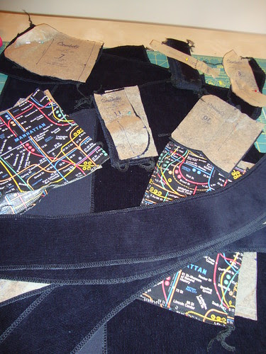 The Trouser pieces all serged with care