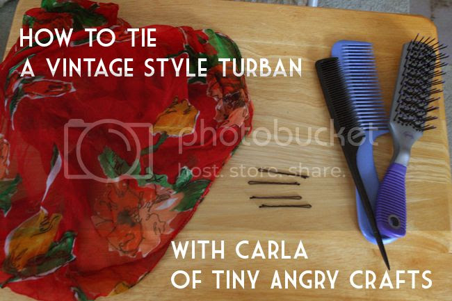 1940's turban hair tutorial by Tiny Angry Crafts