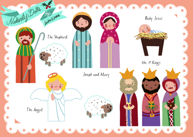 Decisive image in printable nativity