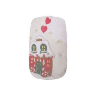 ugly christmas sweater heart house nail decals