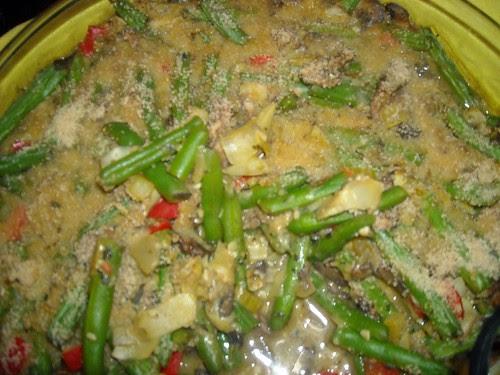 Ted's Artichoke and Green Bean Bake