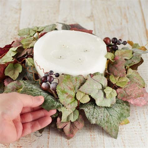 Artificial Grape Leaf Candle Ring   Candles and