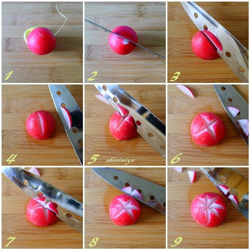How To Cut a Radish Star by sherimiya ♥