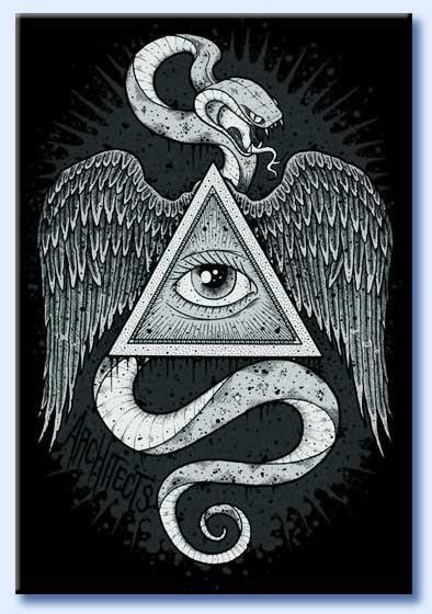 occhio onniveggente e serpente