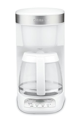 Cheap Cup Coffee Makers: Cuisinart DCC-750 Flavor Brew 12-Cup Coffeemaker, White