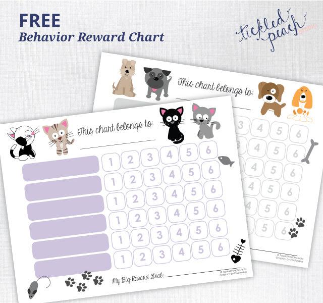 Free Printable | Behavior Reward Chart for Kids | Tickled Peach Studio