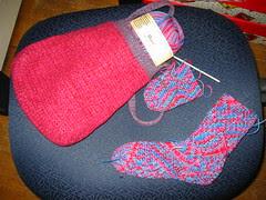 Emergency Sock Bag and WIP