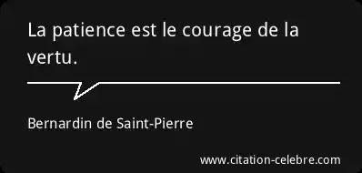 Citation Patience Vertu