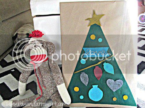 bow arrow art: felt christmas tree fun